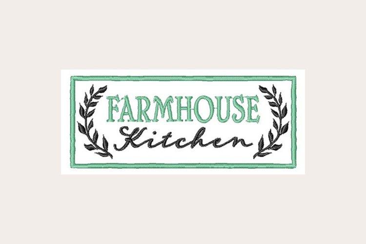 Farmhouse Kitchen Sign - Machine Embroidery Design example image 1