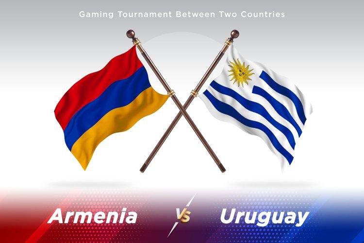 Armenia versus Uruguay Two Flags example image 1