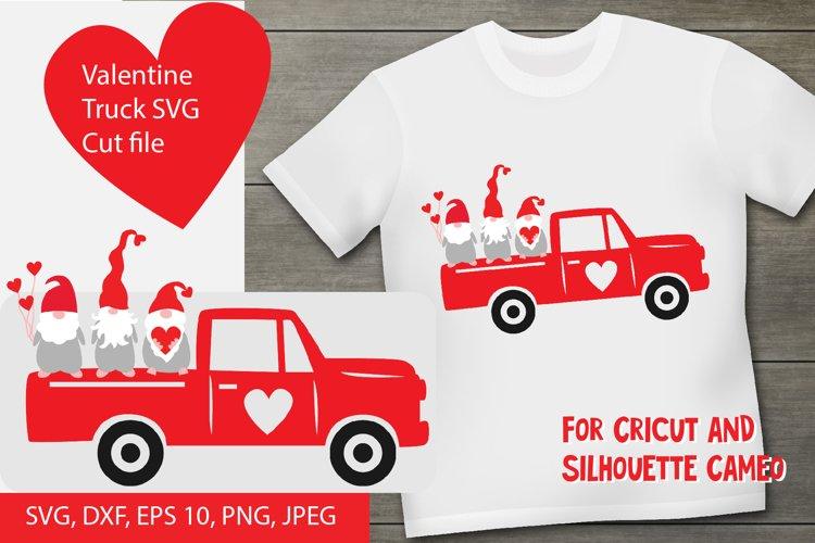 Valentine gnome truck SVG cut file