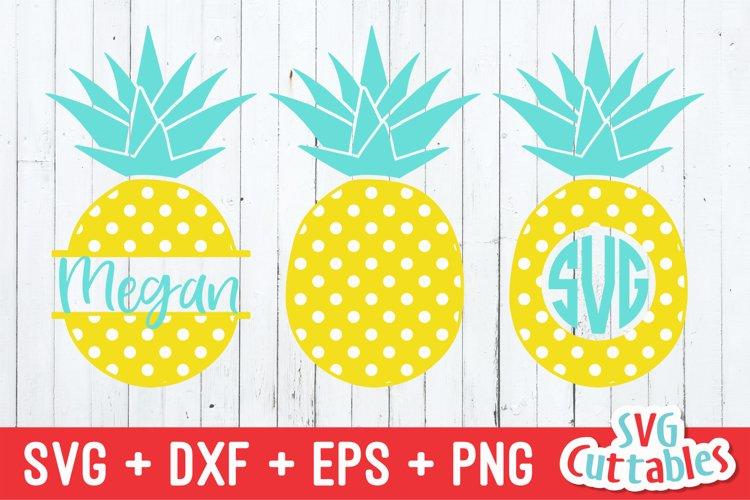 Pineapple SVG | Polka Dot Pineapples | Monogram Frame example image 1
