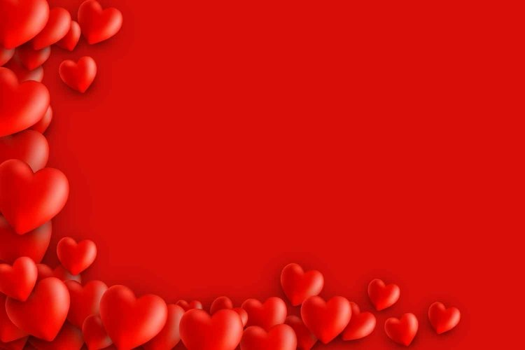 St. Valentine's day template background with hearts example image 1