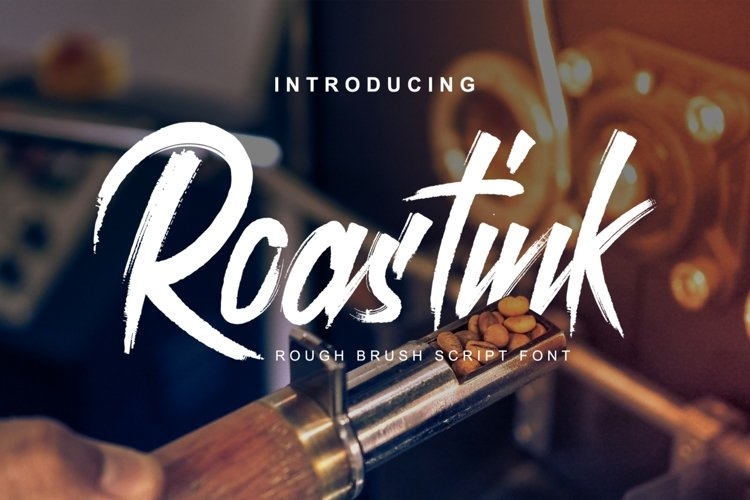 Roastink script rough brush font example image 1