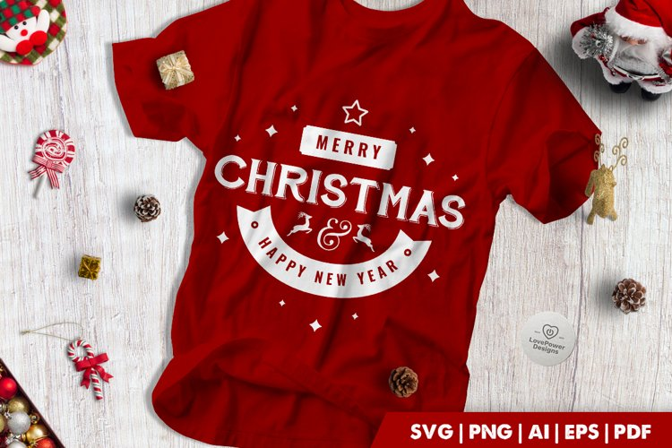 Christmas SVG | Merry Christmas Happy New Year example image 1