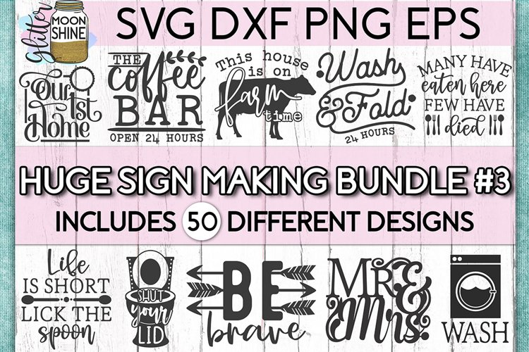 Huge Sign Making Bundle #3 SVG DXF PNG EPS Cutting Files example image 1