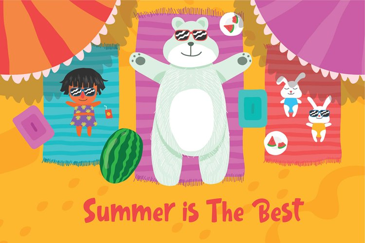 Summer is Best - Vector Illustration example image 1