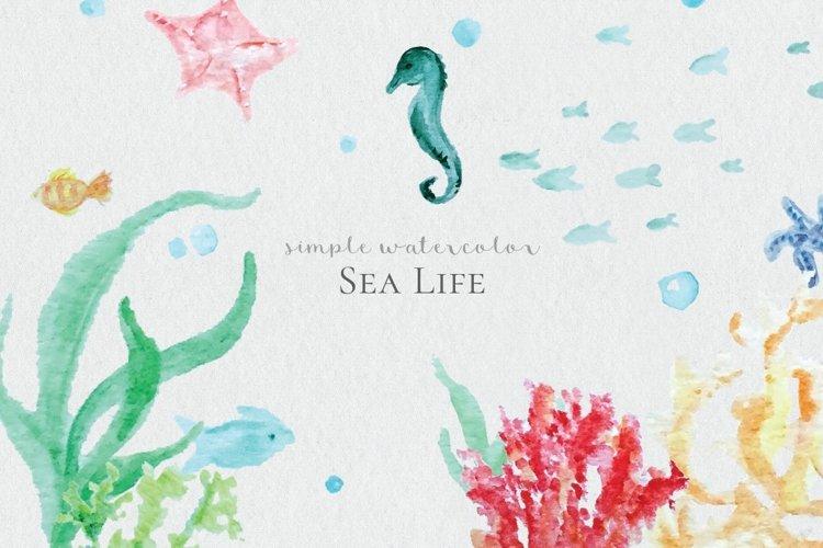 Watercolor Sea Life example image 1