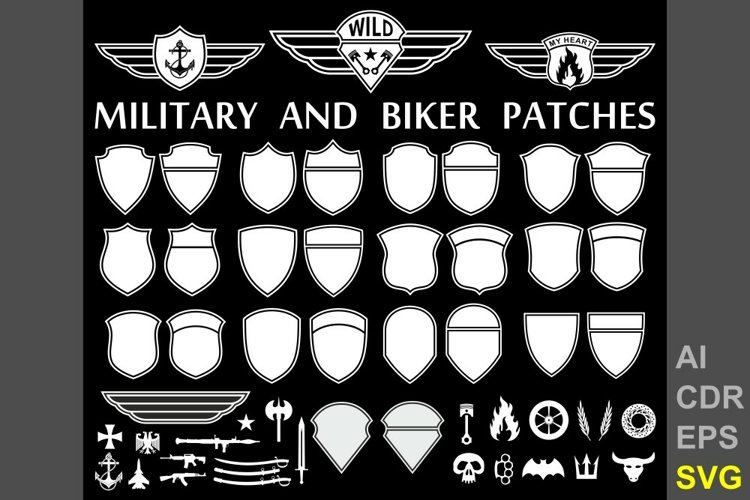 Patch templates for military and biker design