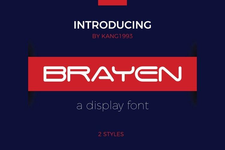 Web Font Brayen example image 1