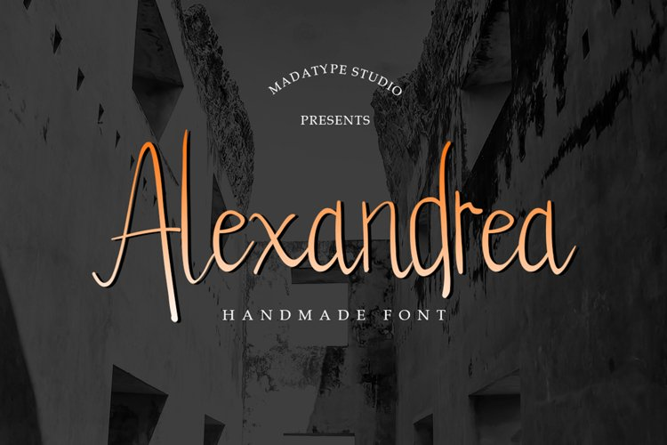 Alexandrea | Natural Handwritten Brush Font example image 1