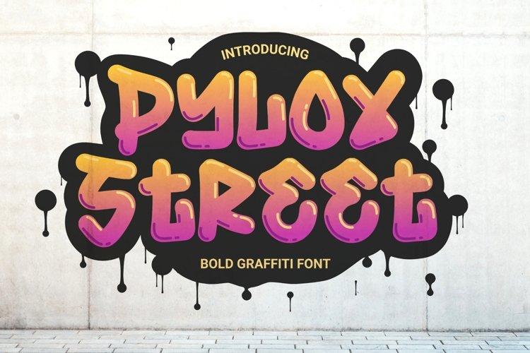 Pylox Street - Bold Graffiti Font example image 1