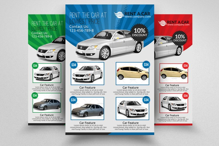 Rent A Car Flyer Templates example image 1
