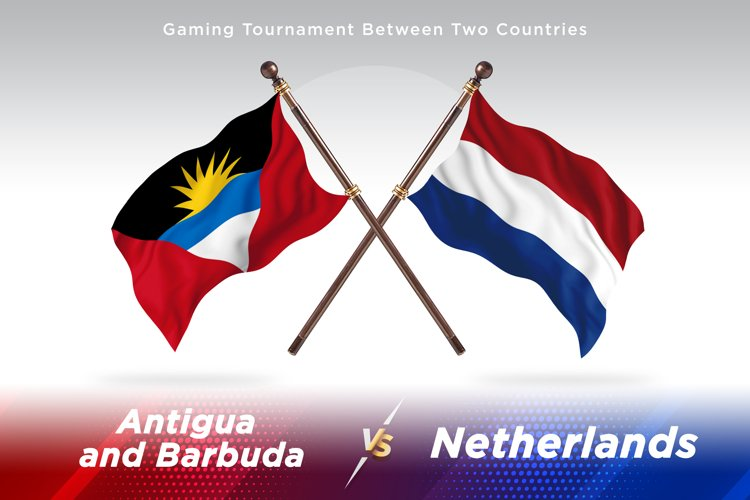 Antigua vs Netherlands Two Flags example image 1
