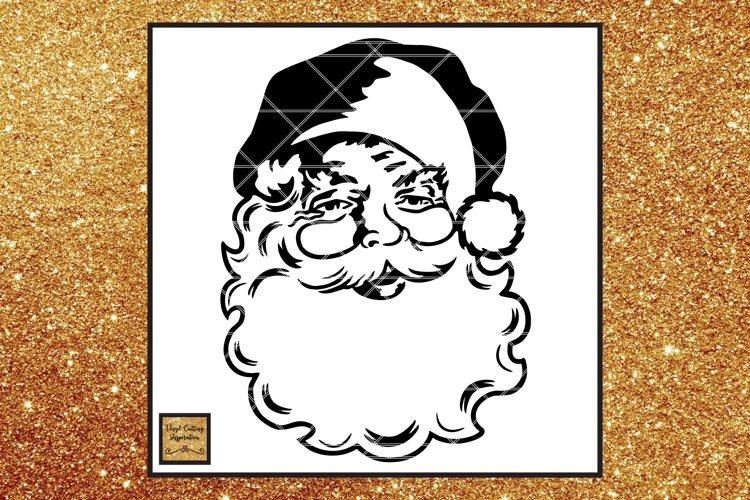 FREE Santa Face Svg, Vintage Santa Svg, Christmas Svg, dxf example image 1