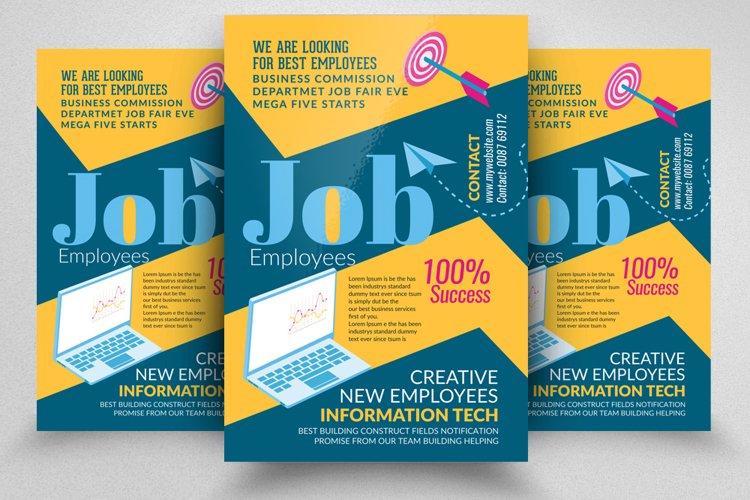 Job Vocancy & Recruitment Business Flyer example image 1