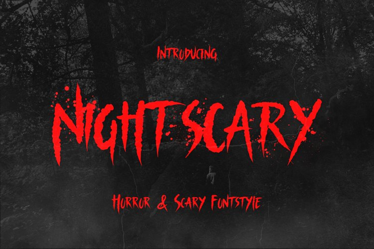 Nightscary - Horror and Scary Funstyle Font