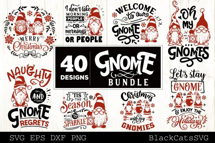 Christmas Gnomes SVG bundle Gnome bundle SVG 40 designs example image 1