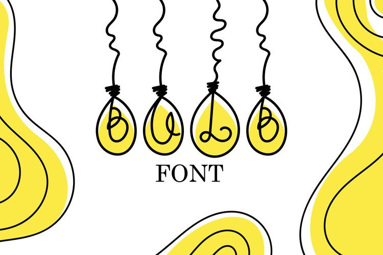 Bulb Font - A Cute Hanging Bulb Font example image 1