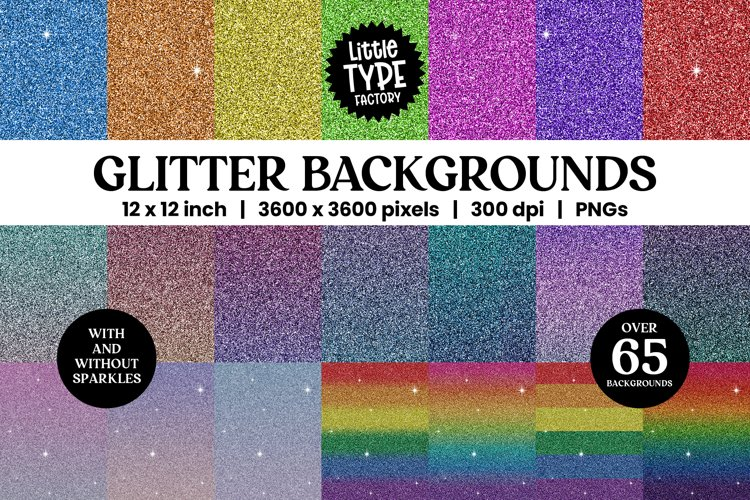 GLITTER BACKGROUNDS | Digital Paper Bundle