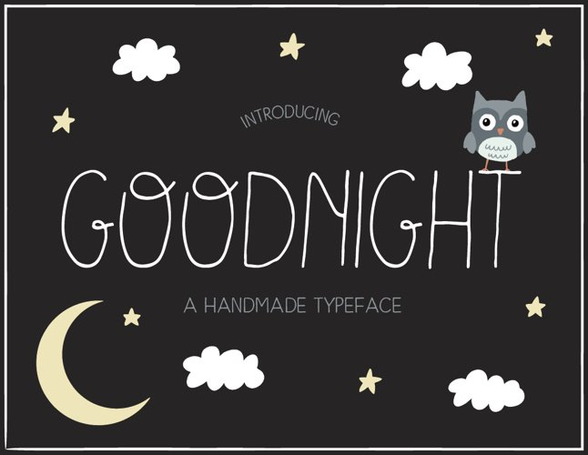 Goodnight Handmade Font