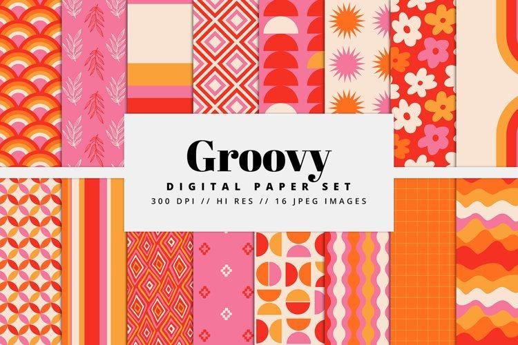 Groovy Digital Paper Set