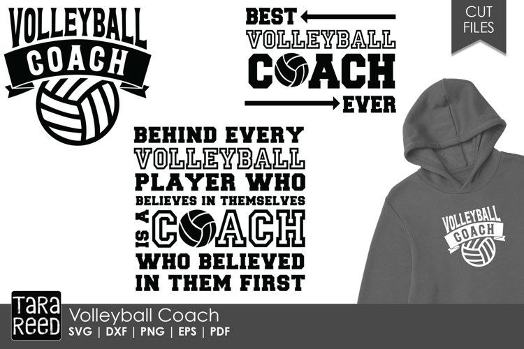 Volleyball Coach - Volleyball SVG and Cut Files for Crafter