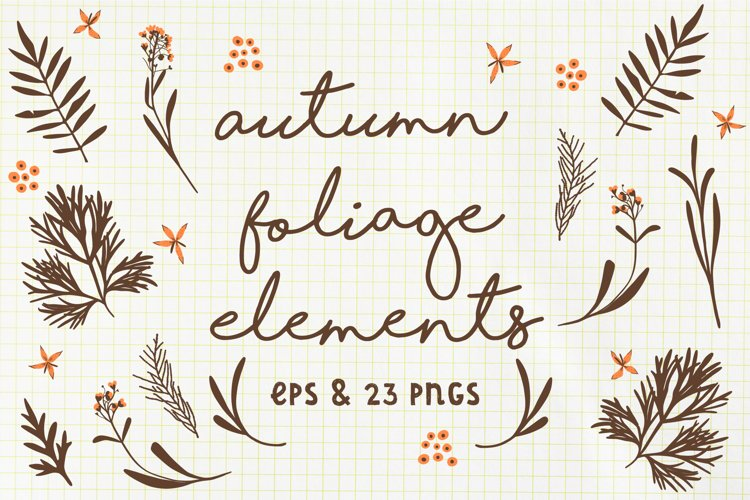 Autumn Foliage Elements example image 1