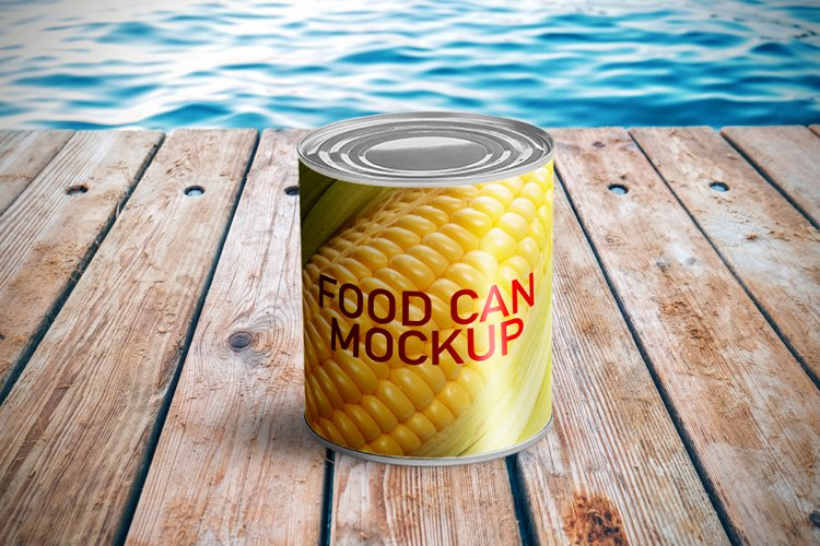 Food Can Mockup example image 1