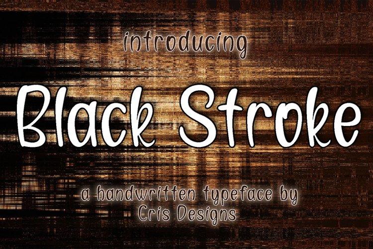 Black Stroke - Elegant handwritten font