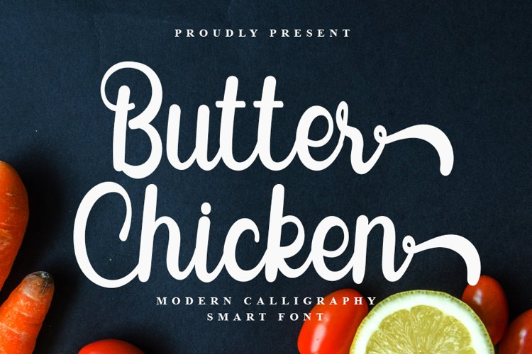 Butter Chicken - Modern Calligraphy Font example image 1