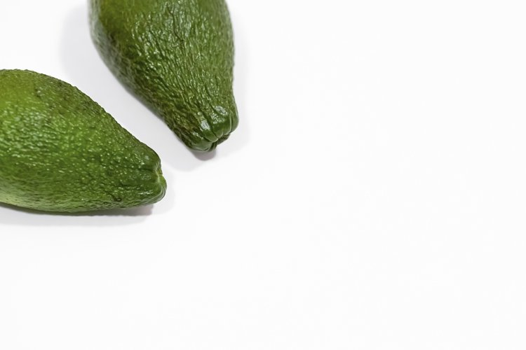 Avocado on a white background, healthy food, healthy fats. example image 1