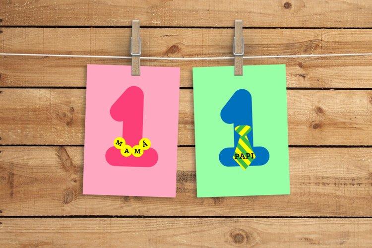 Numero 1 Mama y Papi SVG Design File