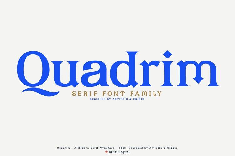 Quadrim - Serif Font Family example image 1