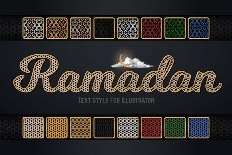 Ramadan Text Style For Illustrator