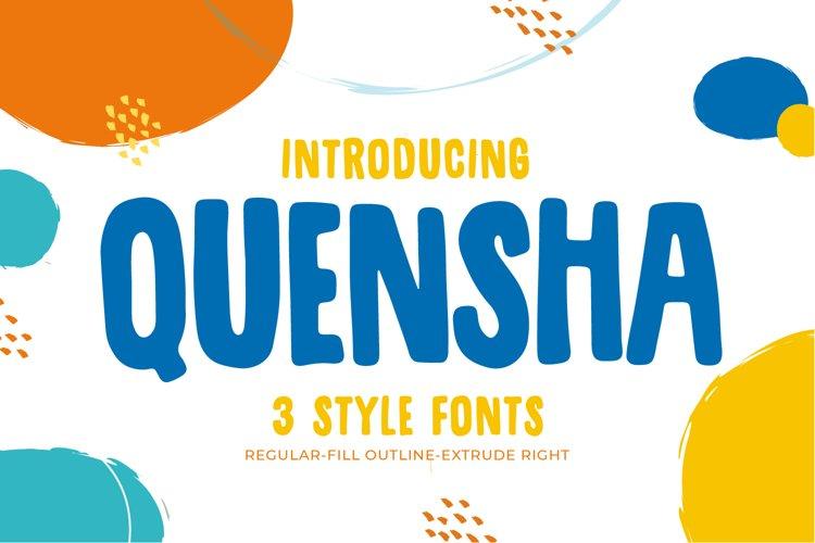 Quensha - Family font example image 1