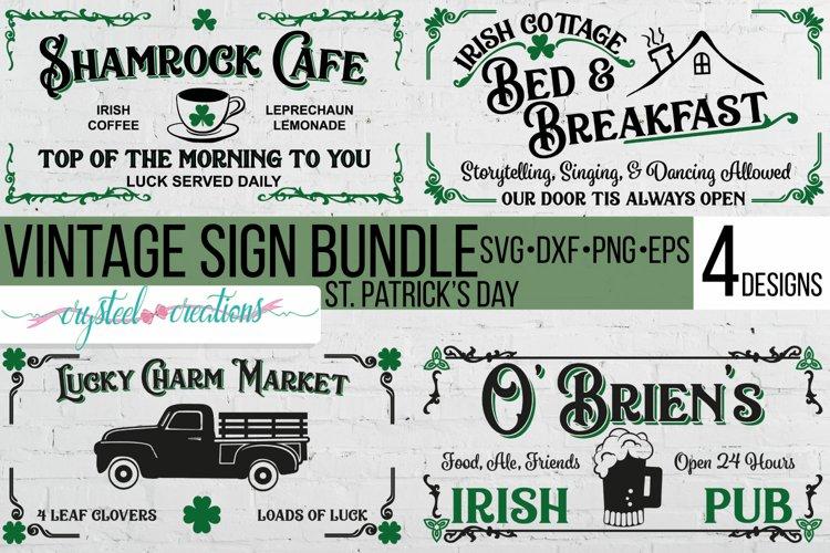 St. Patricks Day Sign Bundle SVG, DXF, PNG, EPS 12x24
