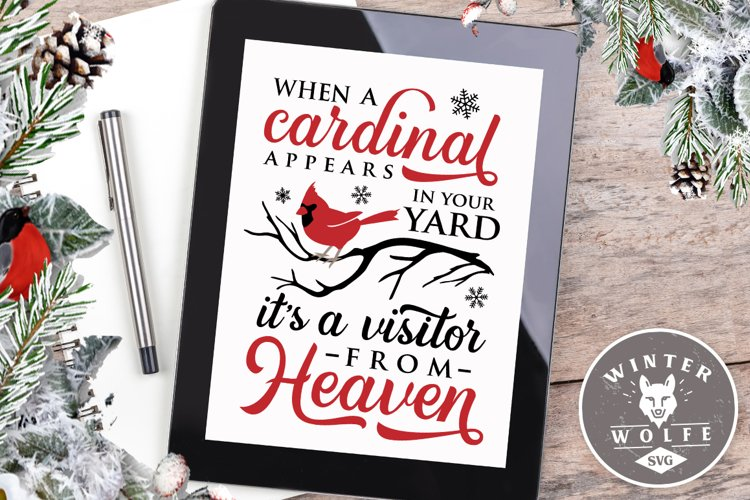 When a cardinal appears in your yard SVG EPS DXF PNG example image 1