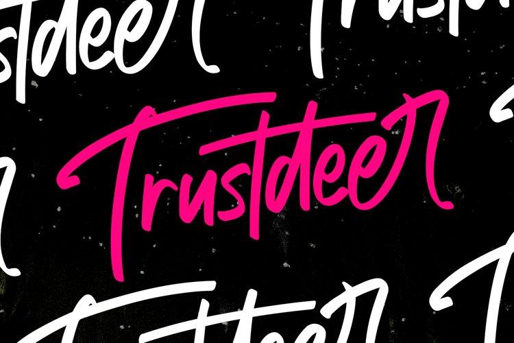 Trustdeer Handbrush Font example image 1