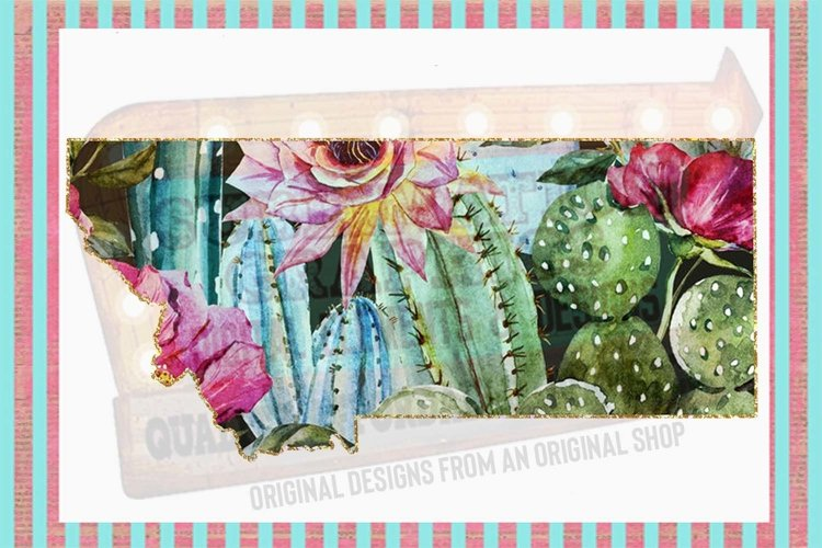 Cactus Montana Sublimation Digital Download example image 1