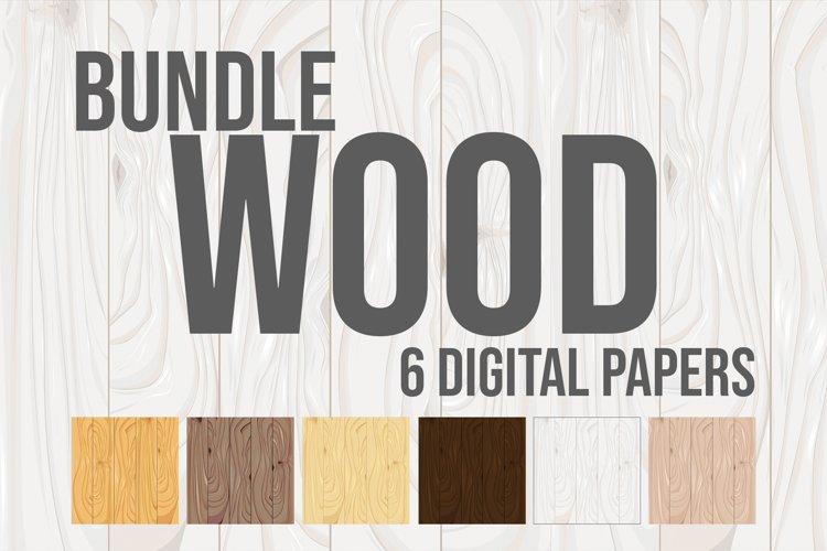 Wood Digital Paper Bundle example image 1
