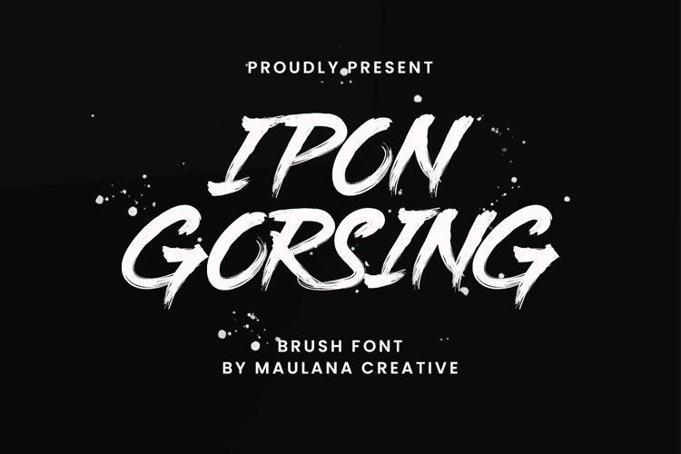 Ipon Gorsing Brush Font example image 1