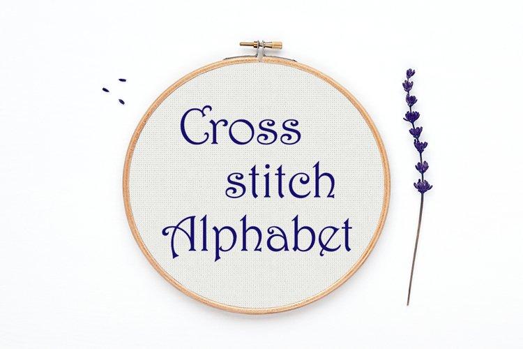 Cross stitch Alphabet pattern - Alph12