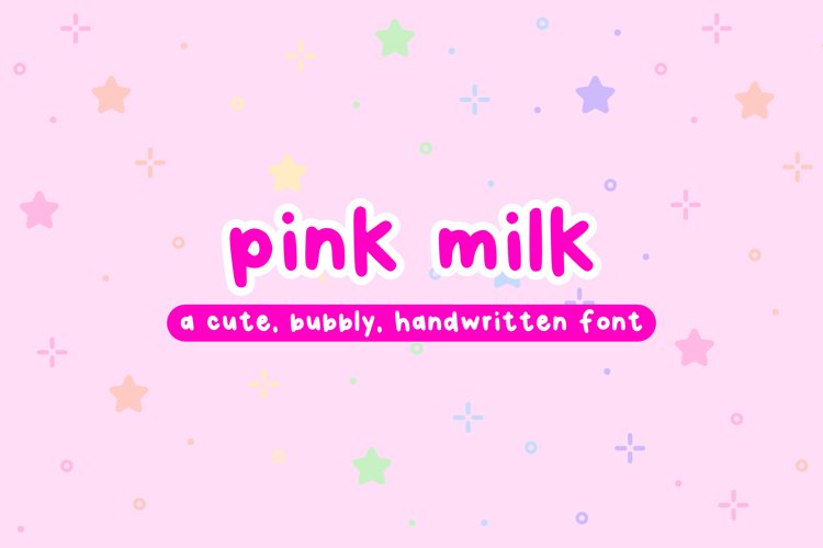 Pink Milk - Cute Bubbly Handwritten Font example image 1