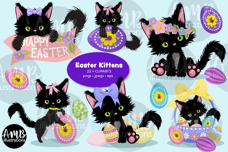 Easter, Easter cats graphics and illustrations example image 1