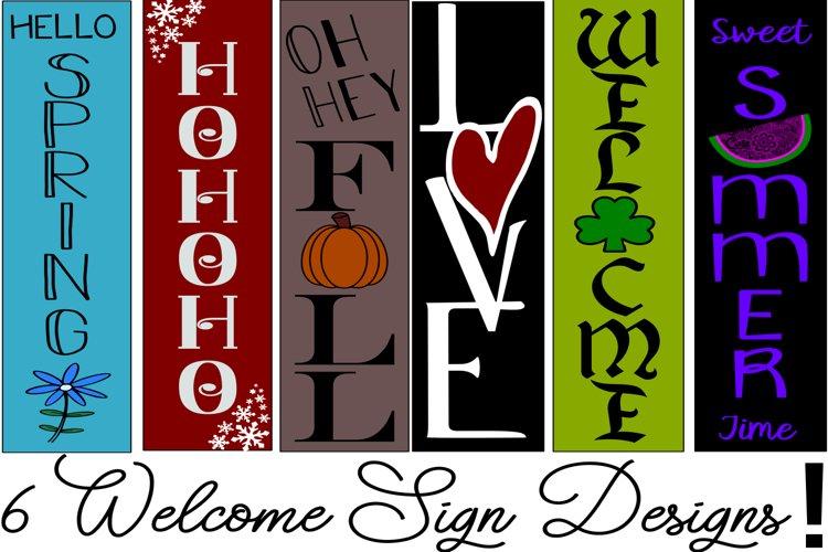 6 Seasons Welcome Sign Design Bundle! SVG PNG