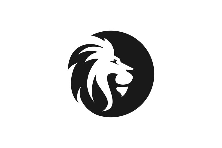 Lion Head Logo Vector Template Illustration Design Mascot An
