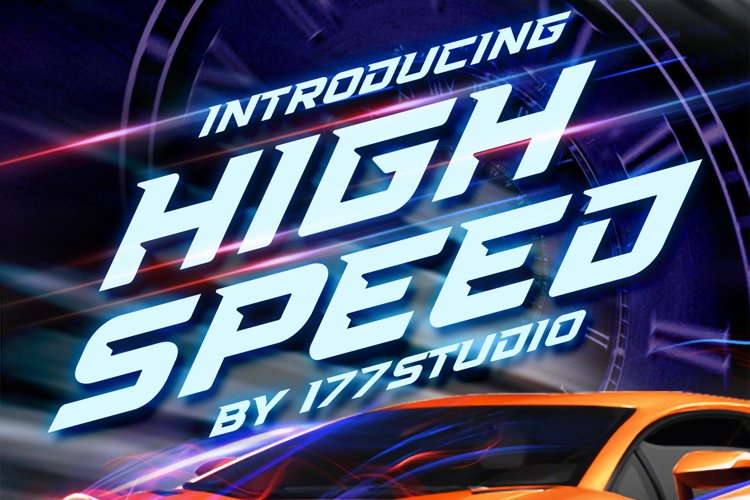 High Speed Font example image 1