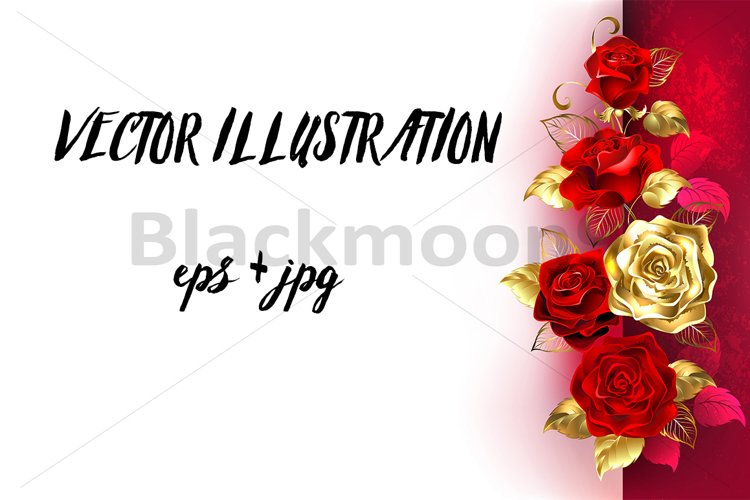 Design with Red Roses example image 1