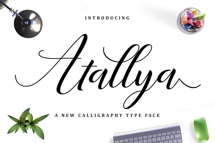 Web Font Atallya Script example image 1