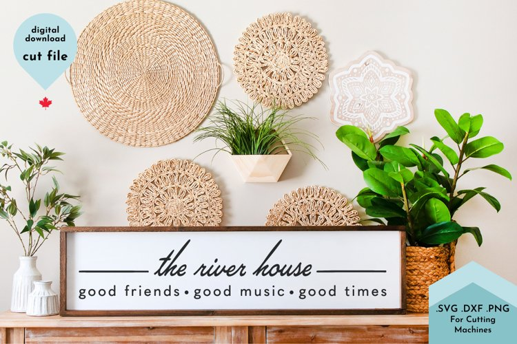 River House Welcome SVG, Porch, Dock, Patio Decor example image 1