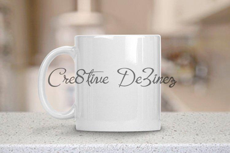 11 Ounce Coffee Mug Mock-Up Modern, PSD PNG JPG White Mug example image 1